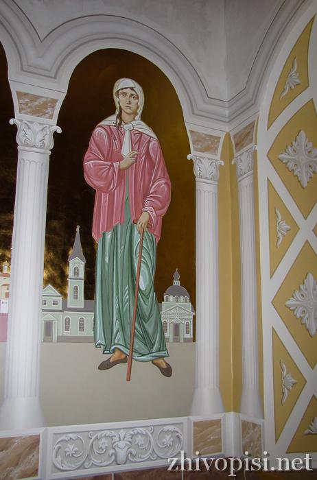 роспись храма: Ксения Петербургская