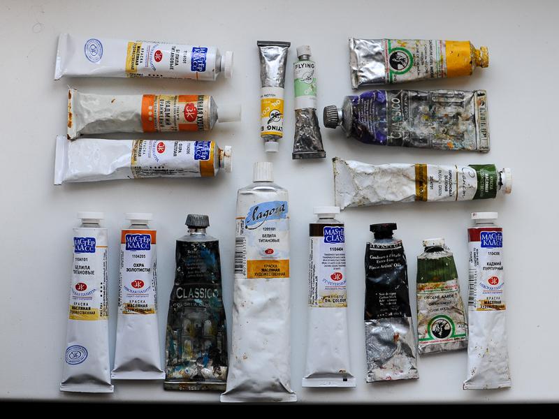 масляные краски различных производителей