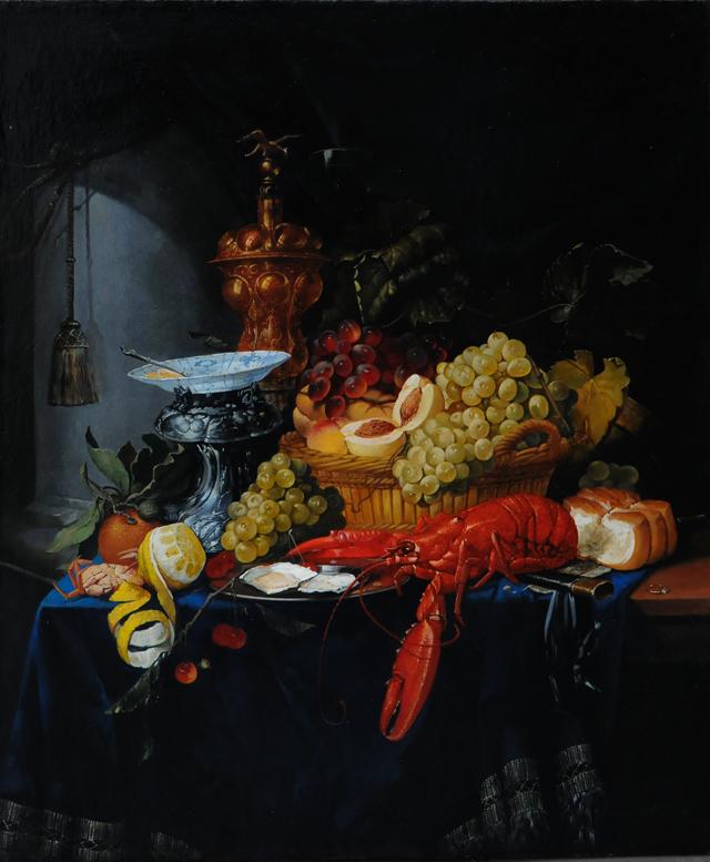 Виллем Кальф .Натюрморт с омаром. Копия